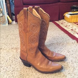 REAL VINTAGE TOOLED LEATHER COWBOY WESTERN BOOTS